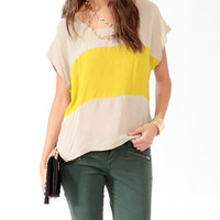 Colorblock Front Top