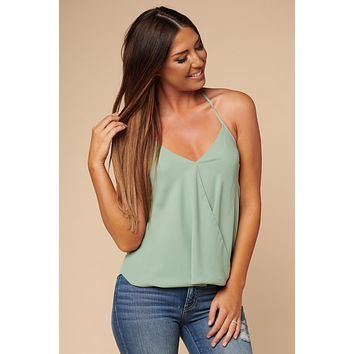 Chic And Sweet Halter Top (Sage)