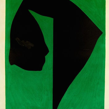 "JACK YOUNGERMAN ""GREEN AROUND"" LITHO, 1968"