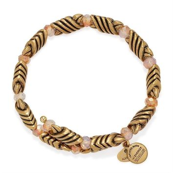 Alex and Ani Mystic Amber Forest's Blessing Wrap - Rafaelian Gold F...