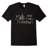 25th Classic Silver Wedding Anniversary t-shirt 2017