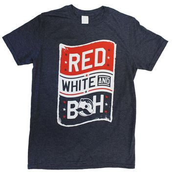 Red, White, & Boh (Heather Navy) / Shirt