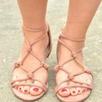 All For You Sandals - Mauve