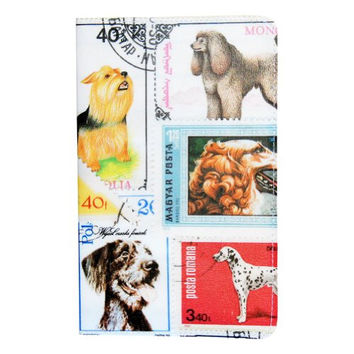 Dogs Postage Stamp Journal (Diary, Notebook) w/ Moleskine Cahier Pocket Cover