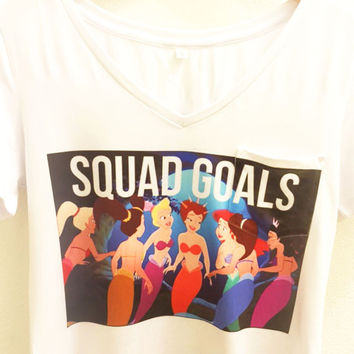 Squad Goals Ariel's Sisters Shirt | The Little Mermaid Disney