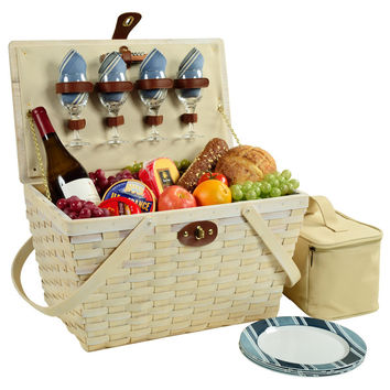Settler's Picnic Basket for Four