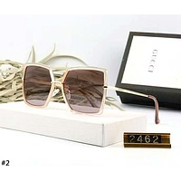 GUCCI 2019 new men and women models large box square color film polarized sunglasses #2