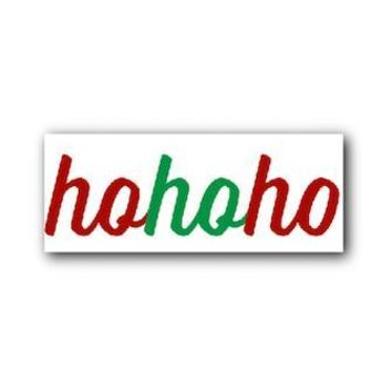 """HOHOHO"" Birch Wooden Sign Photo Prop -  PRWHOHOHO"