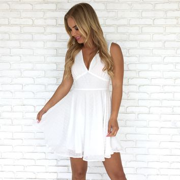 Lost In Your Light Little White Dress
