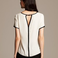 Piped Cutout Top