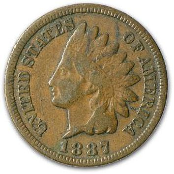1887 Indian Head Cent Fine