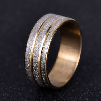 nj28 6mm of Brushed Titanium Wedding Ring Solid fashion shiny ring stainless steel ring for women and men Valentine's Day Band