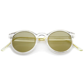 Crystal Clear Round P3 Mirror Lens Sunglasses A464