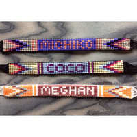Custom Word/Name Bead Loom Friendship Bracelet