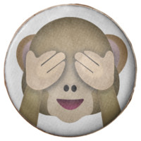 See No Evil Monkey Emoji Chocolate Dipped Oreo