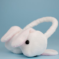 Amuse PoteUSA loppy bunny plush white ear muffs