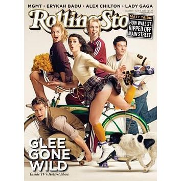 Glee Rolling Stone Cover poster Metal Sign Wall Art 8in x 12in