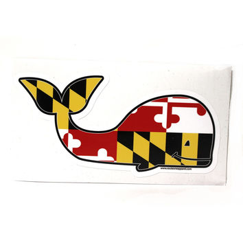 Maryland Flag Whale / Sticker