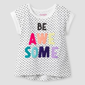 Toddler Girls' Awesome Graphic T-Shirt Fresh White - Cat & Jack™