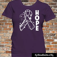 Hope Purple Awareness Ribbon Shirt