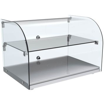 """Curved Glass Countertop Dry Display Case 22"""""""