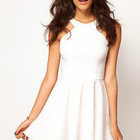 ASOS PETITE Exclusive Skater Dress With Popper Straps sizes 10-16