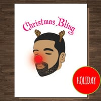 Drake Christmas Card, Rapper Christmas Card, Pop Culture