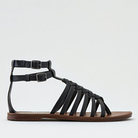 AEO Strappy Double Buckle Sandal , Black