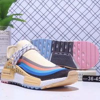 ADIDAS Human Race NMD BOOST mesh rainbow sports casual running shoes F-CQ-YDX