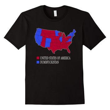 Dumbfuckistan t-shirt United States of America Map