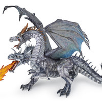 PAPO TWO HEADED DRAGON SILVER