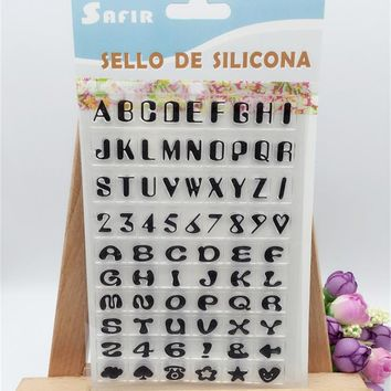 English letter label Clear Rubber Stamp Transparent Stamp DIY Scrapbooking Card Making Decoration Supplies LL-64