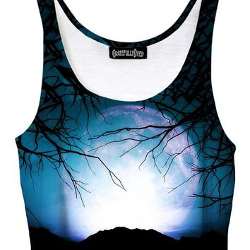 Night Owl Forest Galaxy Crop Top