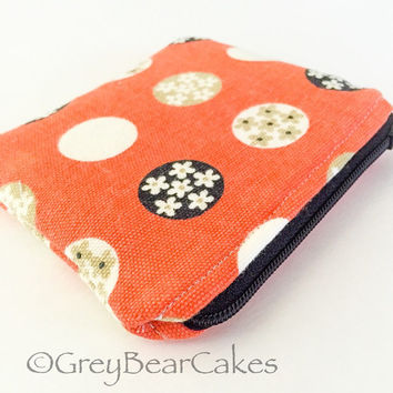 Spring Themed Coin Purse Keychain / Business card holder
