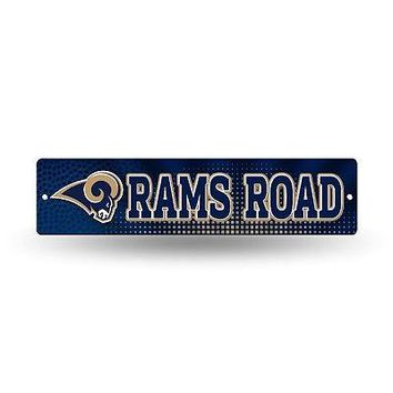 "Los Angeles Rams NFL Football 16"" Street Sign Fan Wall Decor"