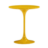 Tulip Side Table in Yellow