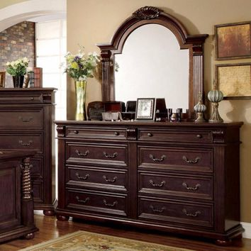 Magnificent Wooden Dresser, Brown Cherry