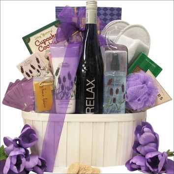 RELAX Riesling: Mother's Day Wine & Spa Gift Basket