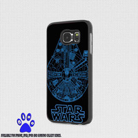 star war millennium blue falcon for iphone 4/4s/5/5s/5c/6/6+, Samsung S3/S4/S5/S6, iPad 2/3/4/Air/Mini, iPod 4/5, Samsung Note 3/4 Case * NP*