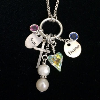 Multi Charm Add On Necklace Handcrafted