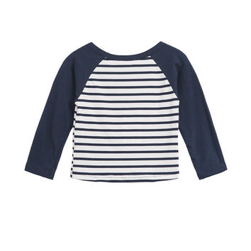 Cool Winter Stripes Mosaic Tops Children Long Sleeve T-shirts [4919893444]