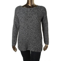 Vince Camuto Womens Knit Textured Pullover Sweater