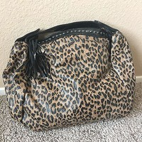 Leopard Cheetah Studded Large Hobo Bag Purse By Rue21