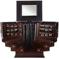 Luxury Silver Safekeeper Deluxe Jewelry Box by Lori Greiner — QVC.com