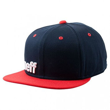 neff Men's Daily Snapback Hat, Navy/Red/White, One Size