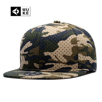 [Wuke] Real Brand Colorful Cap Hip Hop Man Women Snap Backs For Men Cool  Snapback Baseball Caps Brim Straight Hats New Bones