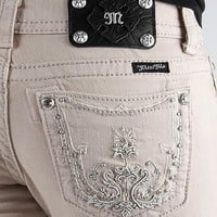 Miss Me Embroidered Boot Stretch Jean - Women's Jeans   Buckle