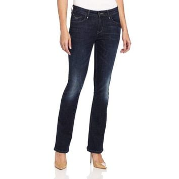 Levi's Petite Mid Rise Skinny Boot Cut Jeans Frosted Dark Ice 6P 8P 12P 14P 16P