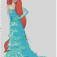 Disney Designer Princess Doll Ariel (The Little Mermaid) Cross Stitch Pattern PDF (Pattern Only)