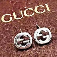 GUCCI Fashion New Letter Sterling Silver Earring Women Accessories Silver